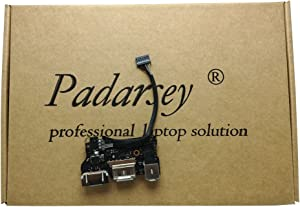 "Padarsey New Replacment DC-IN Jack I/O Board fit Compatible For MacBook Air 13"" A1466 MD760 820-3455-A (Mid 2013, Early 2014)"