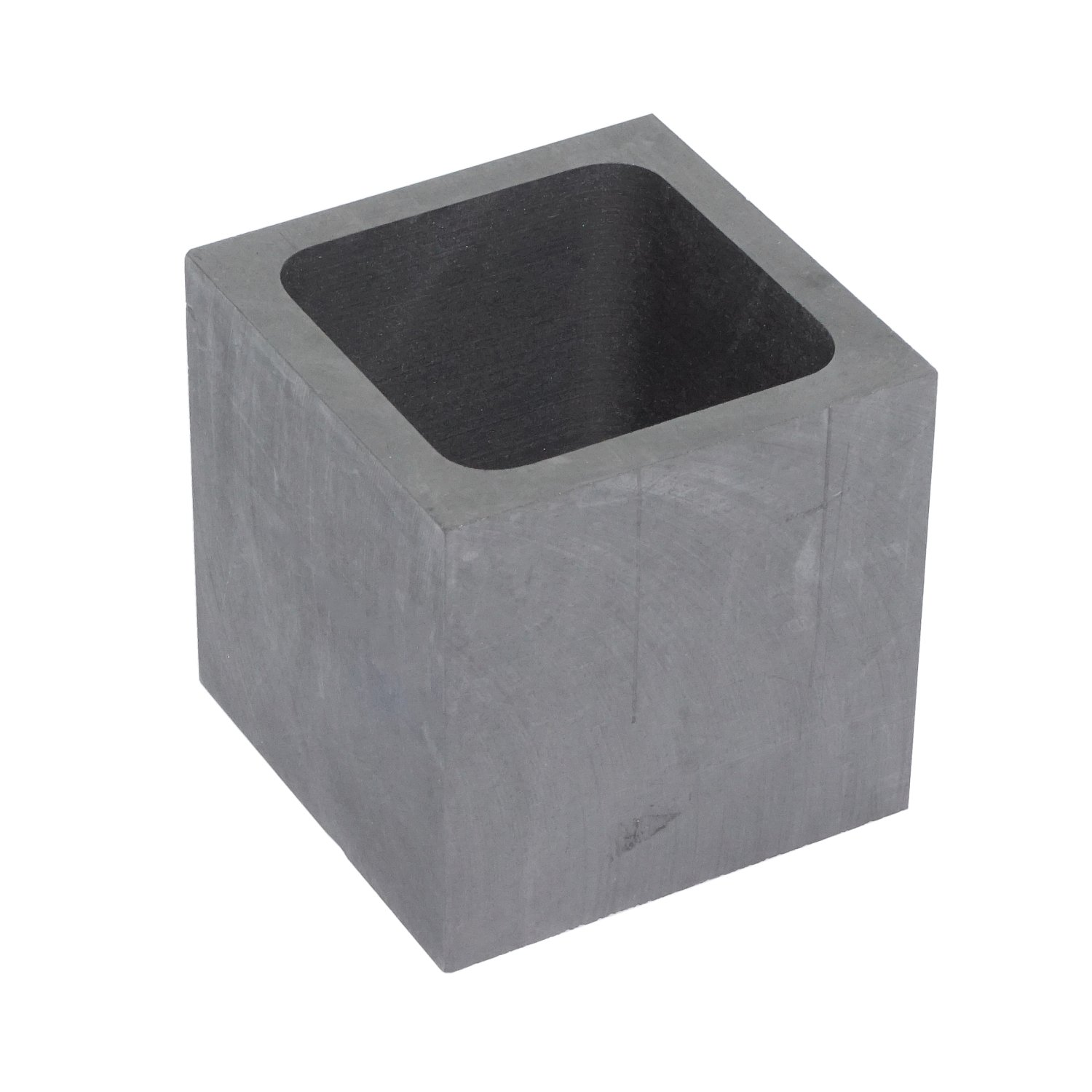 2 fl oz Pure Graphite Crucible Refining Casting Ingot Mold for Gold Silver Aluminum Copper Metals