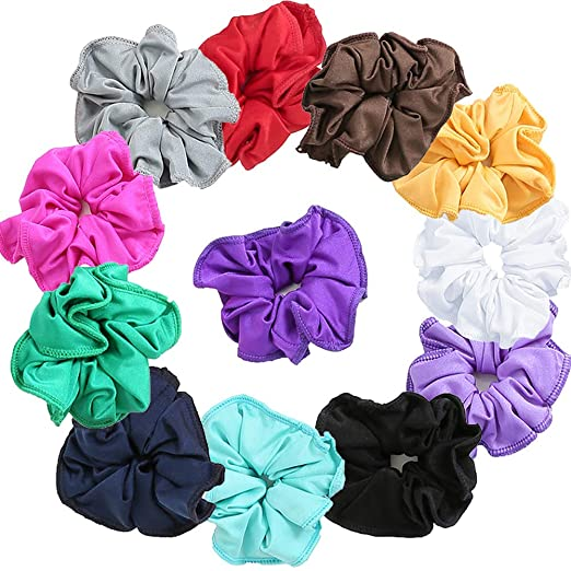 6e0f6dfc1f7b Speerise Gymnastic Hair Scrunchie Ponytail Holders(Varity of Colors),12 pcs
