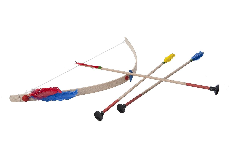Indianerbogen inklusive drei Pfeilen Holzspielzeug Bogensch/ütze Kinderspielzeug Freizeit Helga Kreft