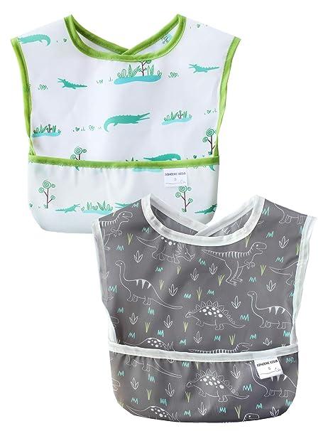 Amazon.com: Sincere Baberos impermeables para bebé, lavables ...