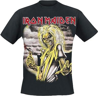 Iron Maiden Killers Hombre Camiseta Negro, Regular: Amazon.es: Ropa y accesorios