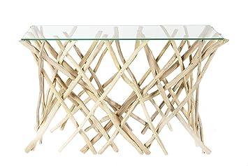 Dunord Design Konsole Kommode Algarve 120cm Teak Treibholz