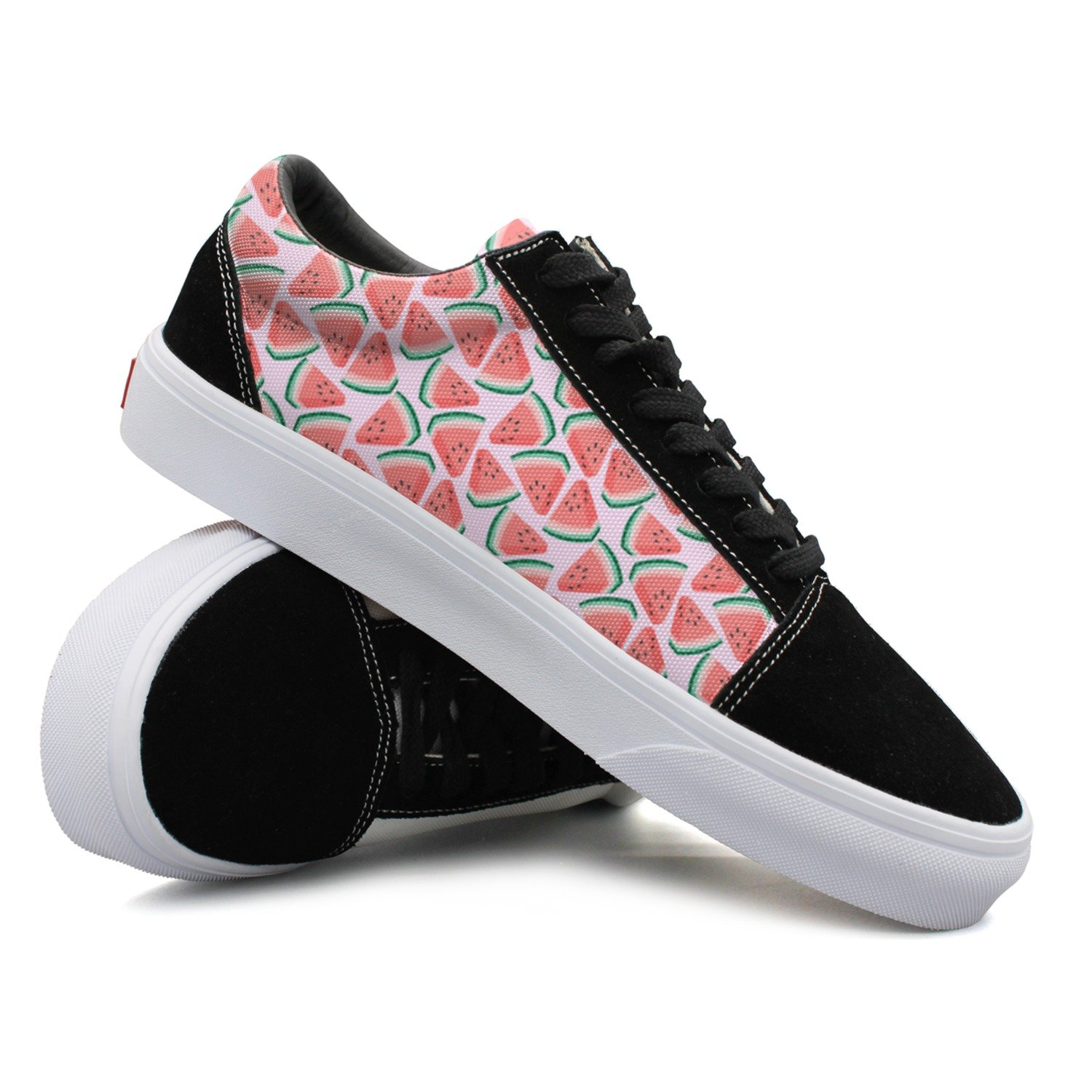 Fashion Beautiful Women Red Watermelon Designer Athletic Flat Casual Shoes Sneakers