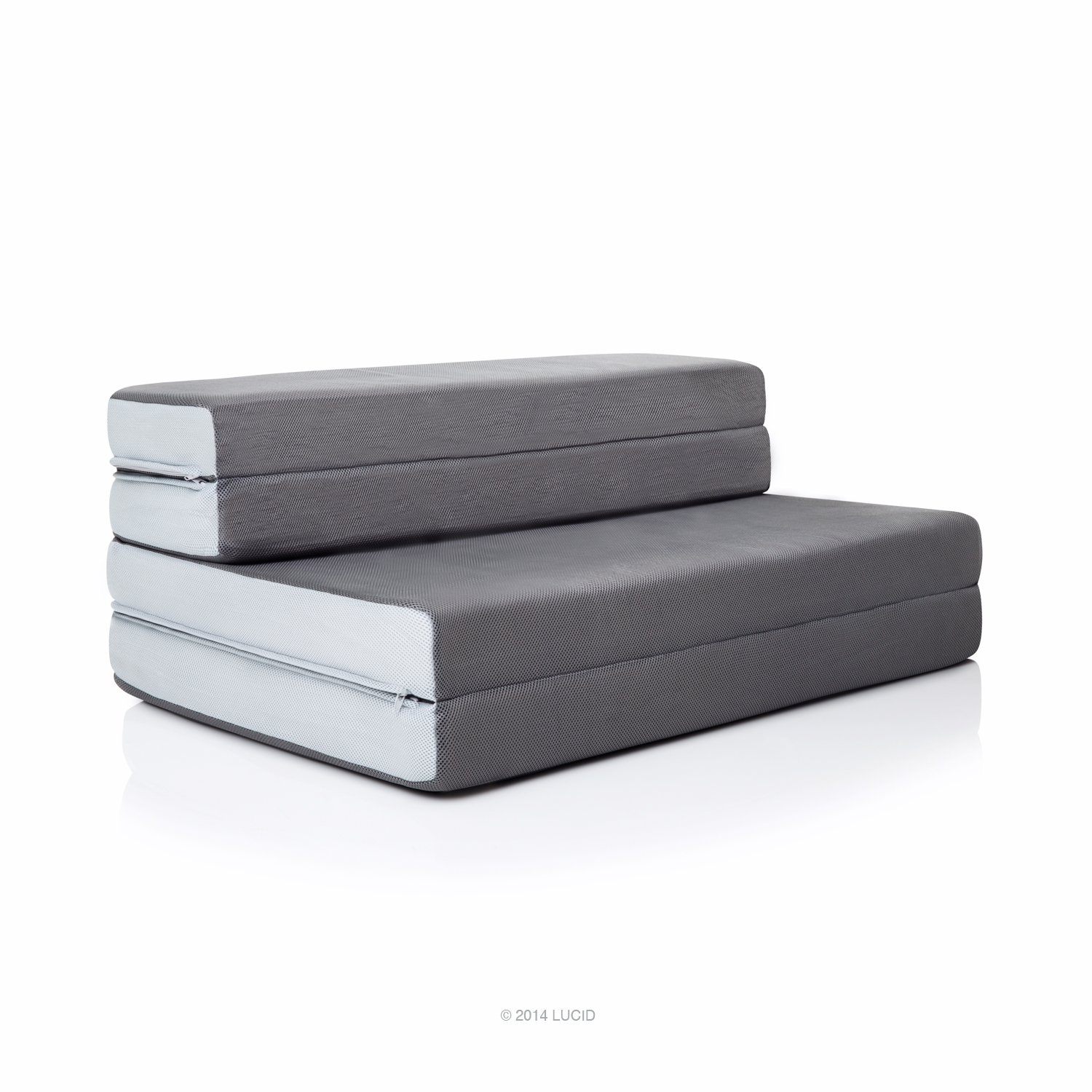 LUCID 4 inch Folding Mattress - Sofa Chair Combo