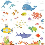 DECOWALL DW-1611S Sea Adventure Kids Wall Stickers Wall Decals Peel and Stick Removable Wall Stickers for Kids Nursery…