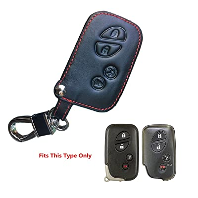 K Genuine Leather Lexus Keyless Entry Remote Control Fob Cover es300 es330 es350 rx350 rx300 is300 is250 gx470 gx460 ls460 gs300 gs400 gs350 nx gx Smart Key fob Cover case Holder for Both 4 Buttons: Automotive [5Bkhe0805333]