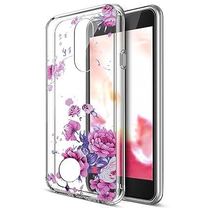 Funda LG K10 2017,Carcasa LG K10 2017,ikasus Patrón flores ...