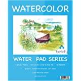 Bellofy Watercolor Paper Pad - 9x12 in - Watercolor Sketchbook Journal with Cold Press Watercolor Paper Finish - 130 IB 190 G
