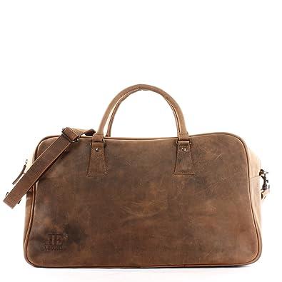 4ed4925d2cf17b LECONI große Reisetasche Weekender Frauen + Männer Ledertasche Sporttasche  Damen Herren Leder vintage 55x25x30cm braun LE2022