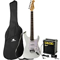 Redwood RS2 Electric Guitar/Redwood 10W Amplifier Beginners Pack - White