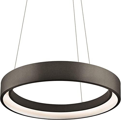 Elan 83453 Fornello Pendant Lighting, Sand Textured Black