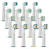 FINNDENTA 16 x Oral-B Ersatzbürsten für ihre elektrische Zahnbürste, 4 verschiedene Bürstentypen, für weißere Zähne, Aufsteckbürsten Multy Pack