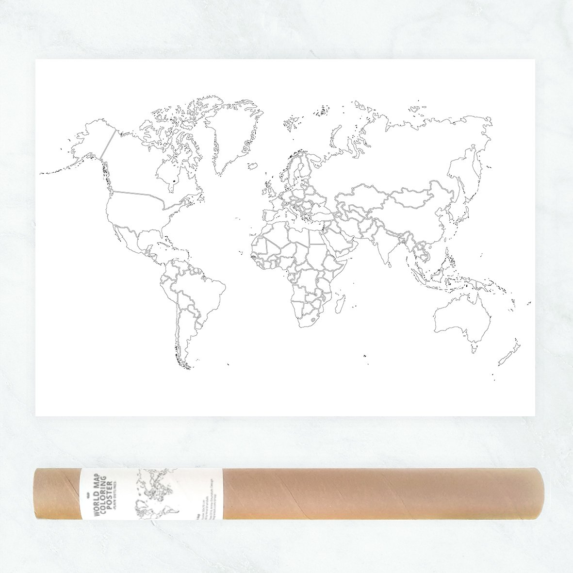 Amazon Com Plain Outlines Political Map Of The World To Color In As