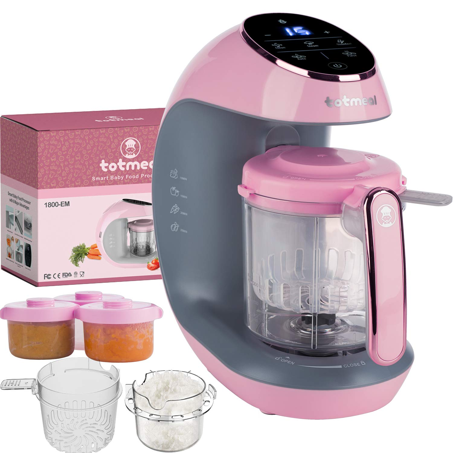 Baby Food Maker Package - The Fastest Baby Food Maker, Steamer, Mixer, Purer, Blender, Chopper, Auto Self Cleaning, Sterilizer, Food and Milk Bottle Warmer, w All Needed Accessories