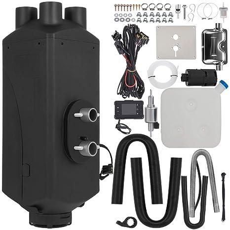 HODOY Riscaldatore digitale 5KW Termostato diesel Riscaldatore elettrico 12V Riscaldatore elettrico a gas per camper Camper e autobus 12V 5KW con telecomando