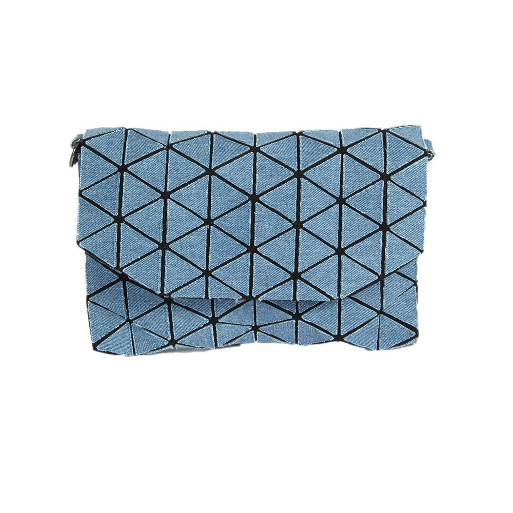 KAISIBO Fashion Geometric Bags Shoulder Bag Purses for Women (Cowboy) Blue