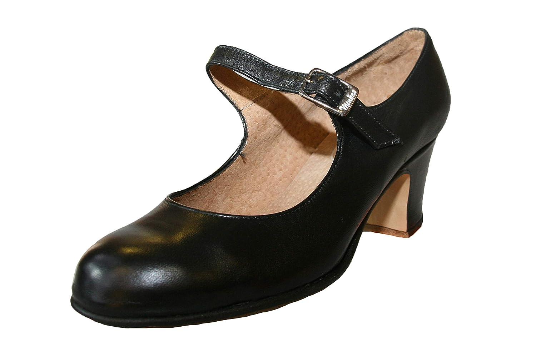 メンケス Menkes フラメンコシューズ 女子用 レザー 釘あり 1950年以来最高の 音を持つ牛革 B07NVPFHV3 ブラック 23.5 cm