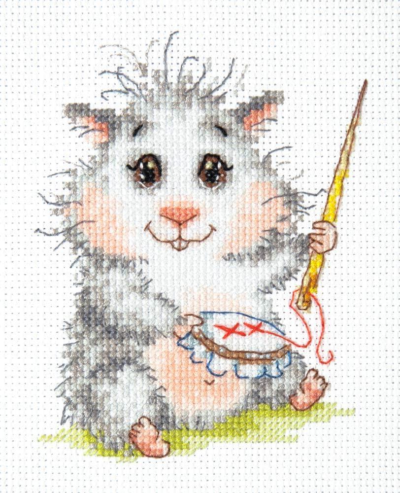 10 x 12 cm Kreuzstichset mit Z/ählmuster Baumwolle Magic needle Wunderbare Nadel Mehrfarbig