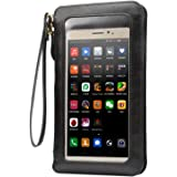 Cell Phone Bag, Dteck PU Leather Touch Screen Crossbody Bag Phone Wallet Pouch with Shoulder Strap Wristlet for iPhone SE 5 6 7 Plus, Samsung S4 5 6 7, J3 4 5 and Smartphone under 6.3 inch, Black