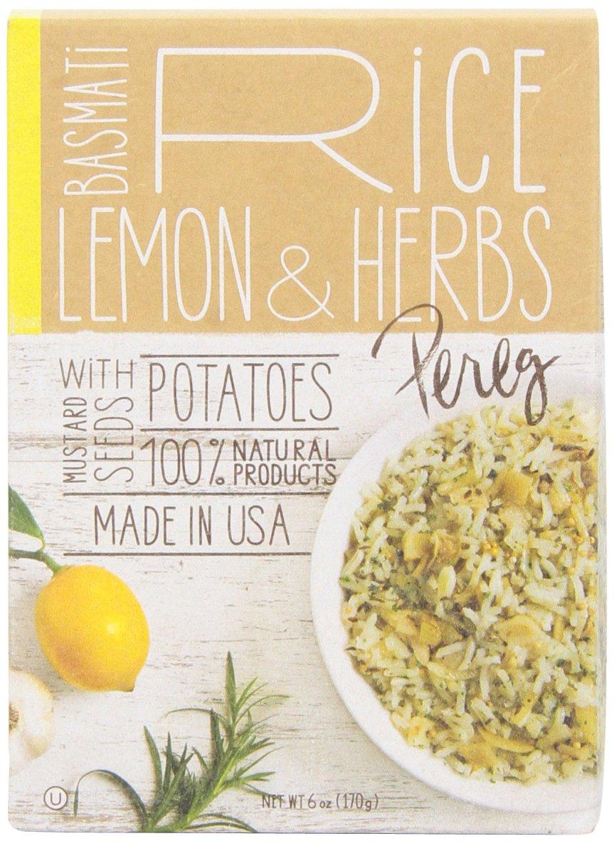 Pereg Gourmet Basmati Rice, Lemon and Herbs, 6.4-Ounce