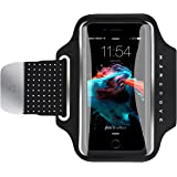 Water Resistant Armband, Atmoko Running Cell Phone Armband for iPhone X / 8 / 7 / 6S / 6, Samsung Galaxy S8 / S7 /S6 / S5 /S7 Edge / S6 Edge, for Smarphones up to 5.2in, with Reflective Strap, Black