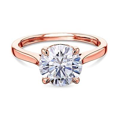 Art Deco Vintage Engagement Wedding Ring 1.9Ct Round Diamond 14K White Gold Over