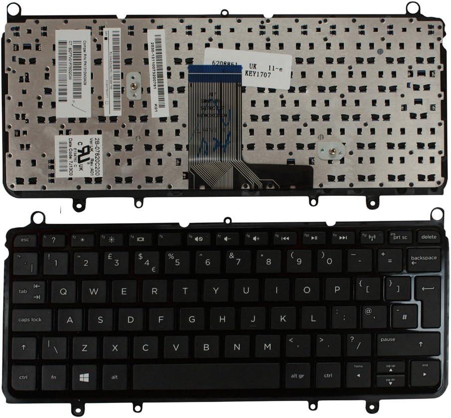 HP Pavilion 11-e006AU HP Pavilion 11-e008AU HP Pavilion 11-e009AU HP Pavilion 11-e007AU Keyboards4Laptops UK Layout Glossy Black Frame Black Windows 8 Laptop Keyboard for HP Pavilion 11-e005AU
