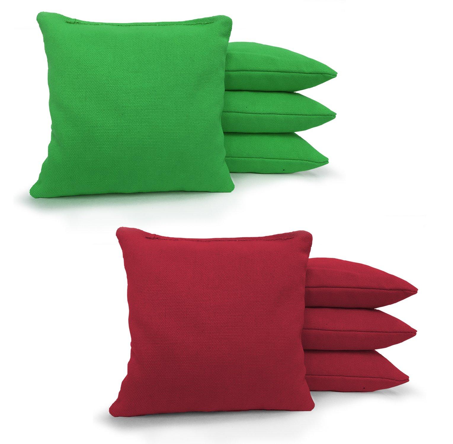 Johnson Enterprises, LLC 8 Standard Corn Filled Regulation Duck Cloth Cornhole Bags 17 Colors Available (You Pick)!! (Kelly/Scarlet) by Johnson Enterprises, LLC