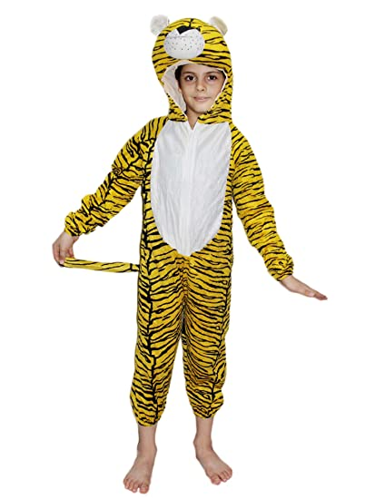 3945c694680 Buy KAKU FANCY DRESSES Kids Tiger Wild Animal Costume for Annual  Function Theme Party Competition Stage Shows Birthday Party Dress Online at  Low Prices in ...