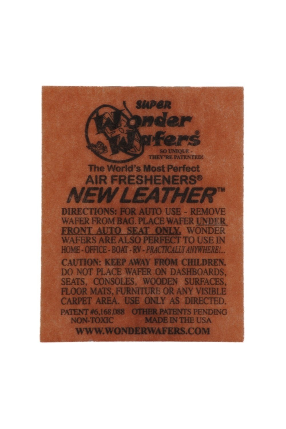 Wonder Wafers Air Fresheners 100ct. Individually Wrapped, New Leather Fragrance by Wonder Wafers