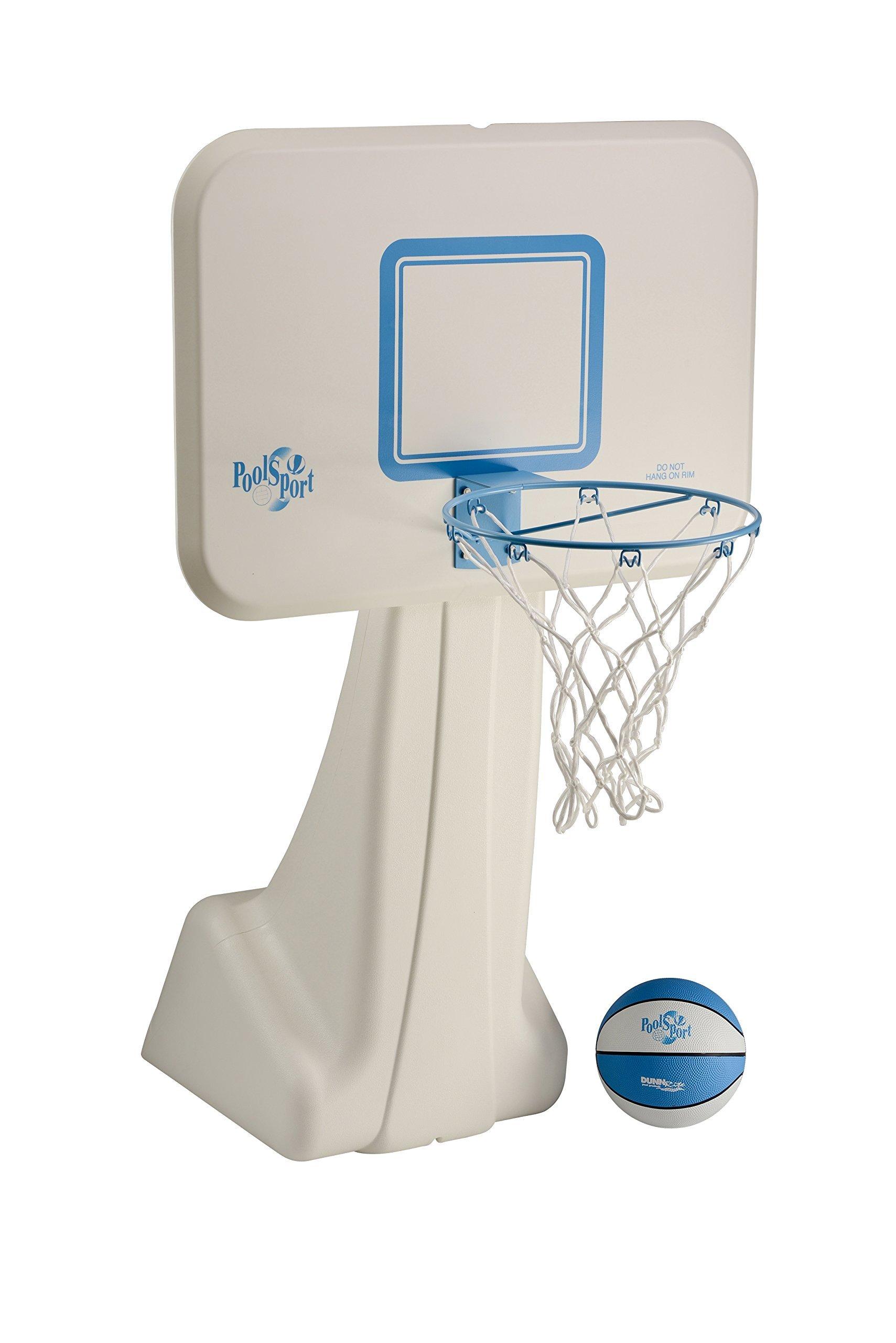 Dunnrite PoolSport pool basketball (B950) 13.5 inch stainless steel rim by Dunn Rite