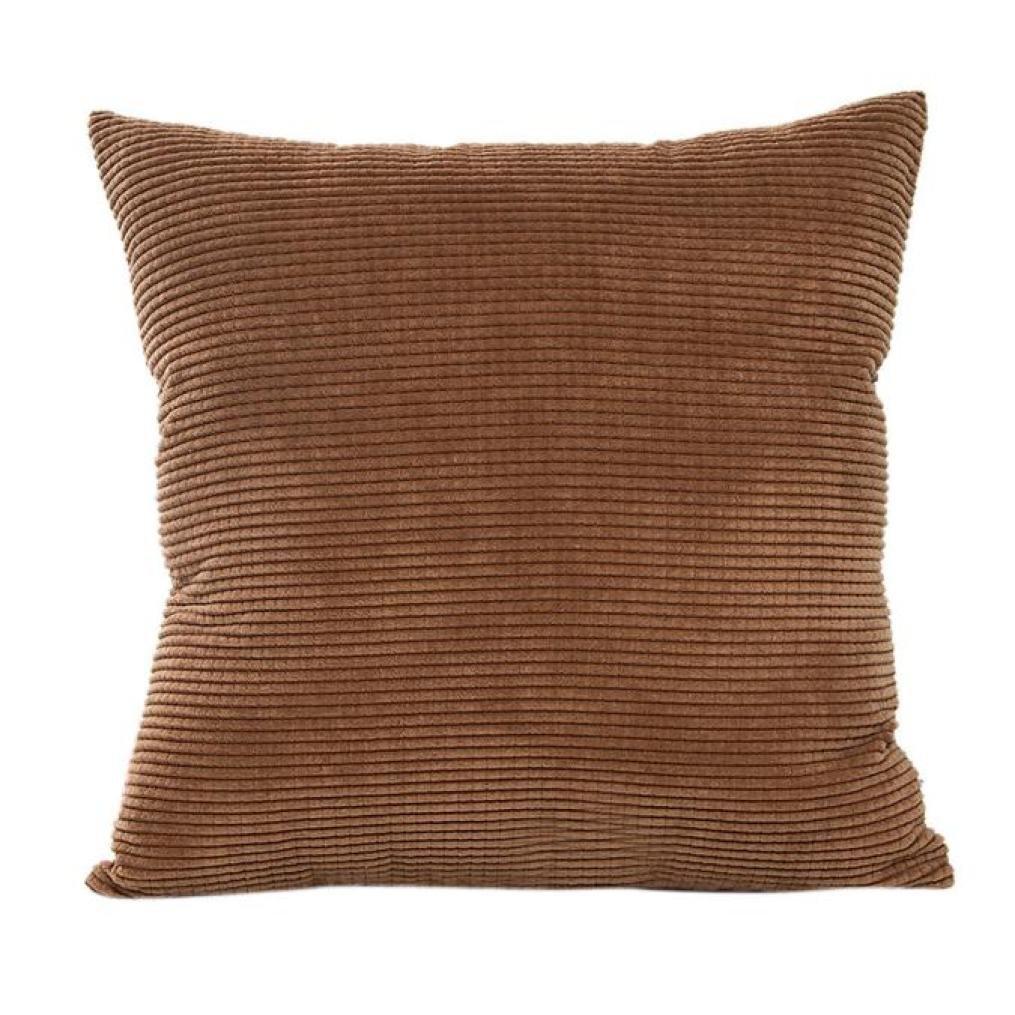 ソリッドスロー枕カバー、kimloog 18 x 18インチ正方形コーデュロイラティスソファウエストクッション枕カバー Size:45cm*45cm/18*18inch KmG_AB006 B075ZN8X69  コーヒー