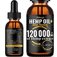 Hemp Oil Drops 120 000 mg, Co2 Extracted, Made in USA, Help Reduce Stress, Anxiety...