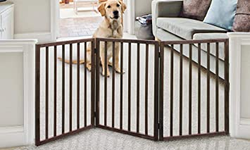 Delicieux Amazon.com : Wood Pet Gate   Tall Dog Gate   Dog Gates For Doorways,  Stairs, Hallways   Freestanding Gate For Dogs   Wooden Dog Gate Tall : Baby