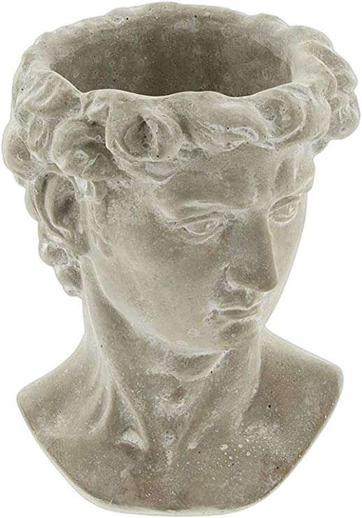 Lucky Winner Greek Statue Head Cement Planter 6 Garden Outdoor Amazon Com