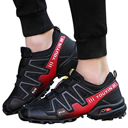 4bdead76526376 Men s Running Shoes Sports Trail Trekking Athletic Outdoor Hiking Sneakers  (Black
