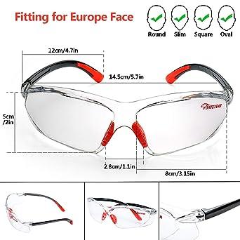 SAFEYEAR Gafas Trabajo Protección Ciclismo Hombre Con Lentes Antivaho y Transparente - Gafas Protectoras Seguridad Para Trabajo SG003 Color Negro y Naranja ...