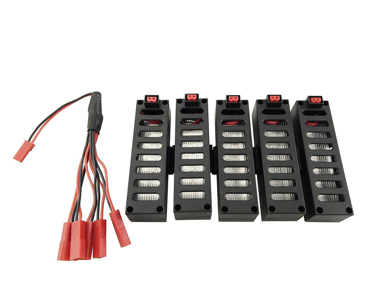 Fytoo 5pcs 3.7V 500mAh Batería + 1 al 5 Cable de Carga para JY018 ...