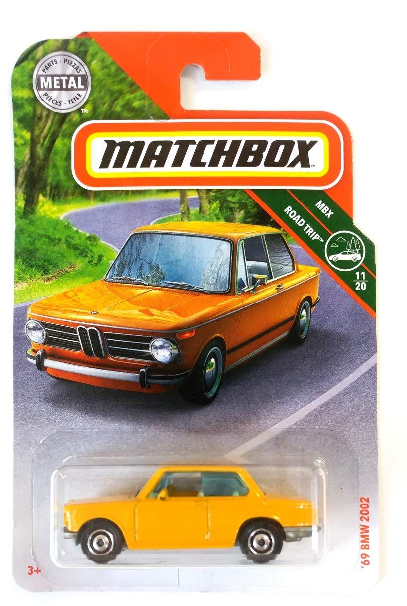 Matchbox 2019 69 BMW 2002 MBX Road Trip Yellow 7//100 Long Card by Mattel
