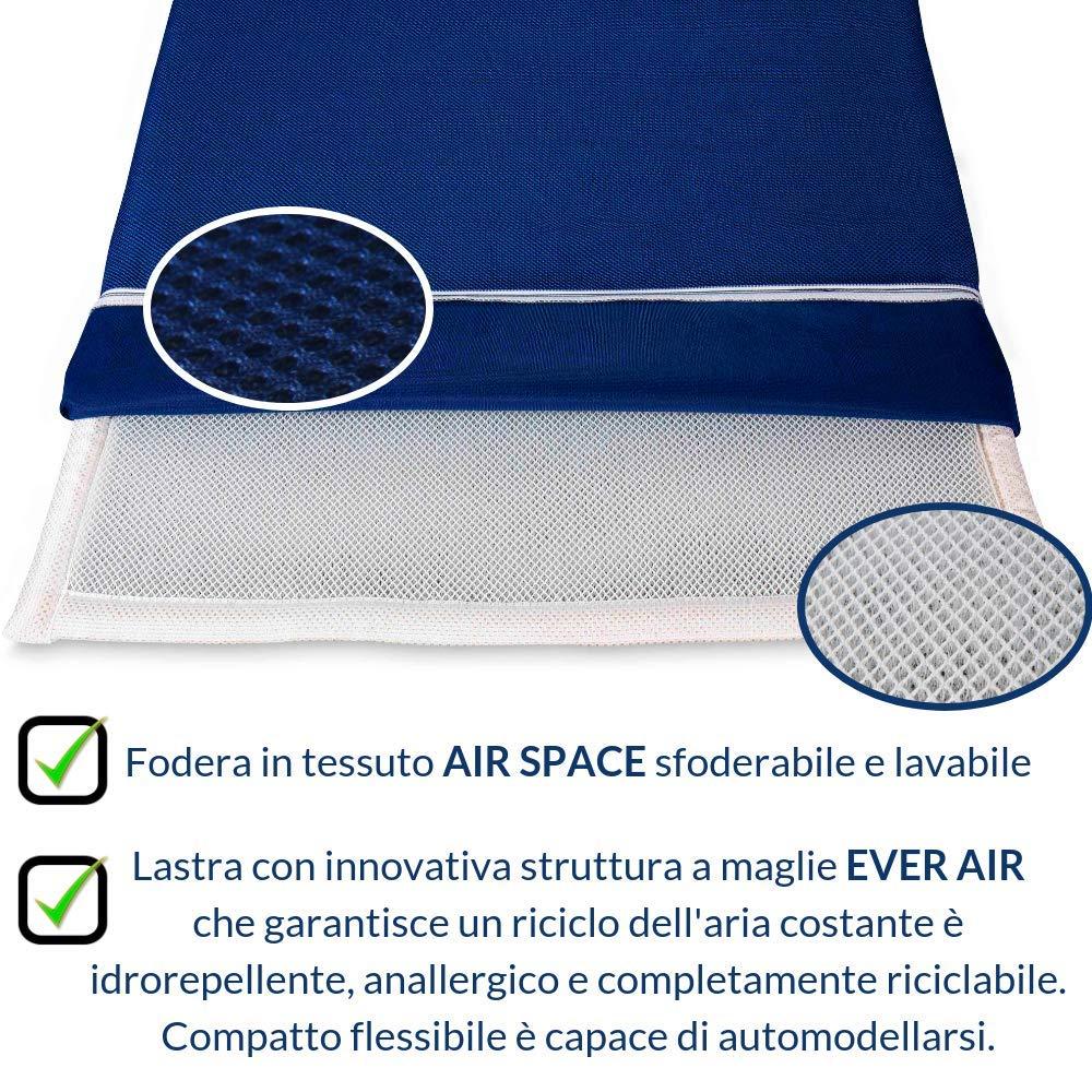 Materassino Singolo 70x195 alto 3 cm tessuto Sfoderabile TWIST BED Yoga Stretching ABS Pilates EVERGREENWEB Materasso Pieghevole Supporto Ergonomico da Terra per Esercizi del Pavimento Campeggio