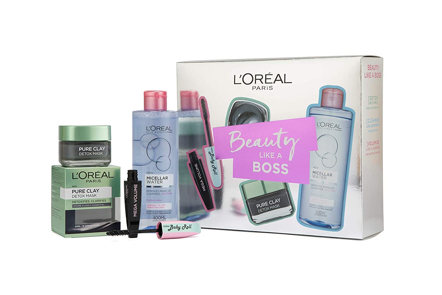 500b35fc4ae L'Oreal Paris Skin Expert Cleanser And Mascara Gift Set For Her:  Amazon.co.uk: Beauty