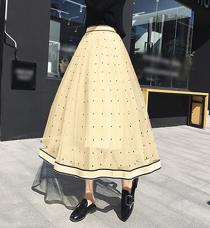 Yiiquan Femme Vintage Maxi Jupe /Él/égant Longue Plage Boh/ême Pliss/é R/étro Robe