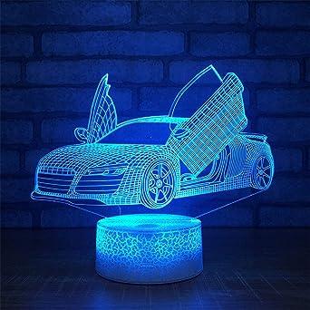 3D Illusion LED Nachtlicht 7//16 Farbe Wechsel Tischlampe Licht Schreibtischlampe