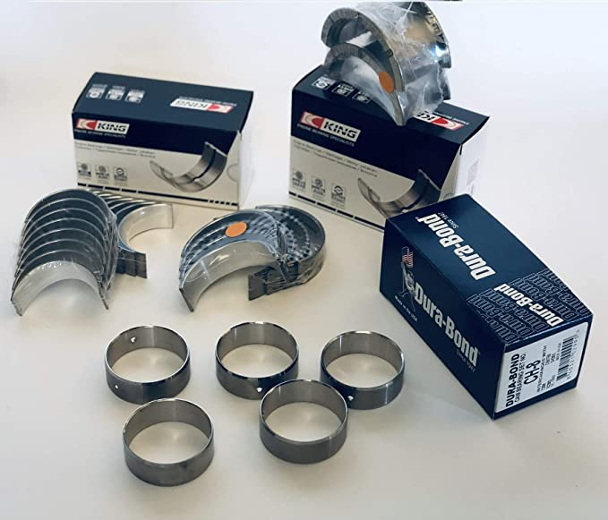 STD//STD Bearings CLEVITE A Rod+Main Bearing Kit compatible with Chevy SB 305 307 327 350 383 1967-02 LT1+LT4