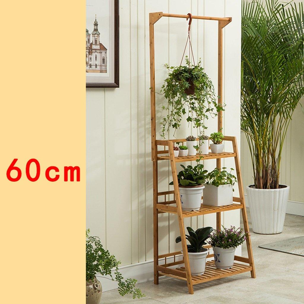 LX Pianta da Pianta da Fiore Nan bambù qualità Scaffale vaso balcone Scaletta a più livelli Portabottiglie da esterno all'aperto ( forma   B , dimensioni   60cm )