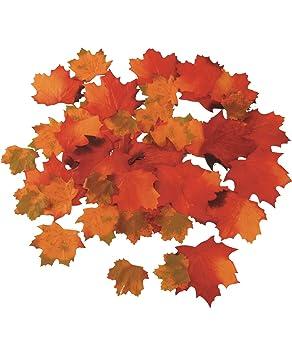 artificial autumn maple leaves x48 amazon co uk kitchen home