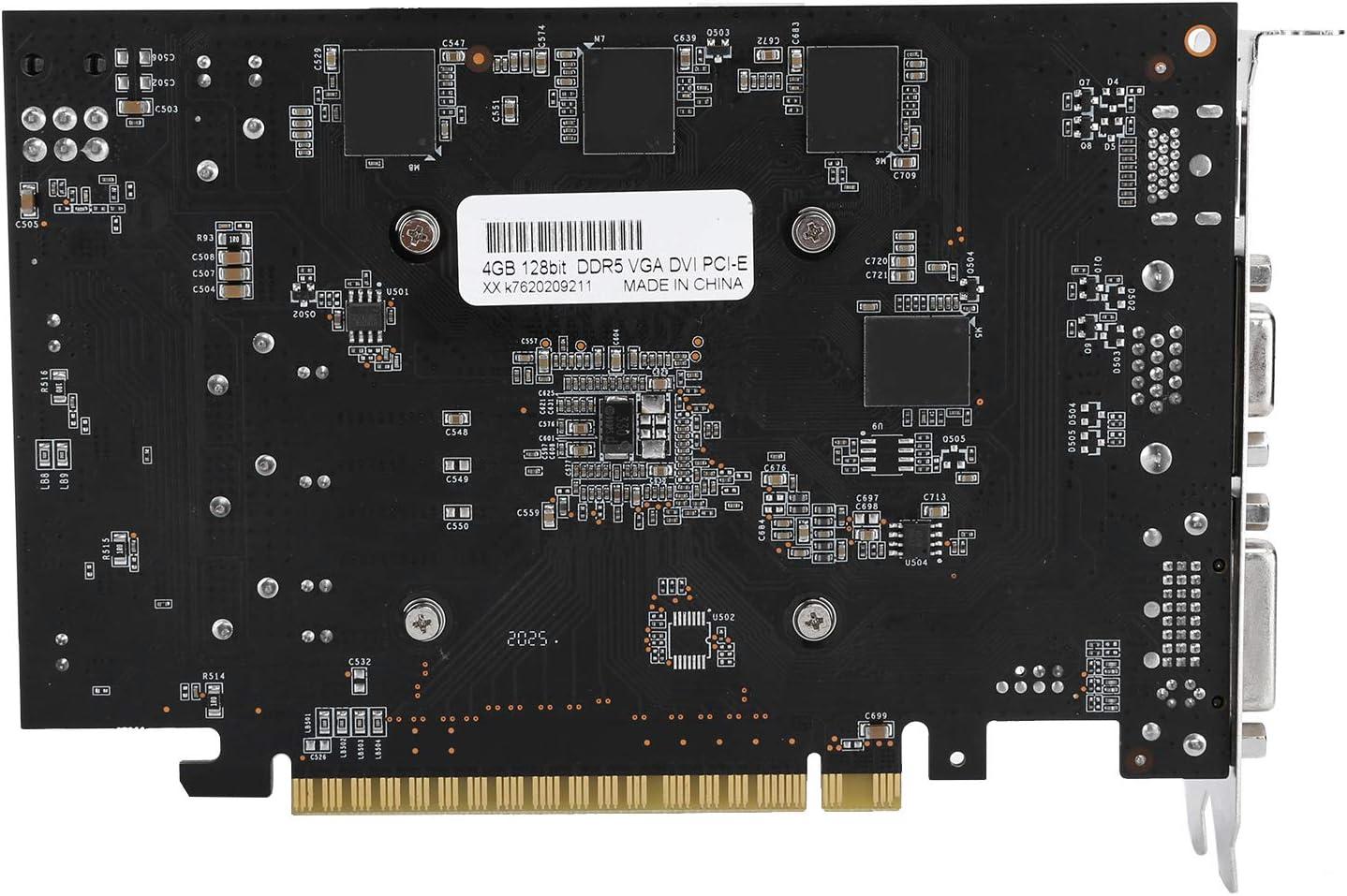 wosume Carte Graphique GTX1050ti Carte Graphique pour Accessoires de r/éseau dordinateur de Bureau 780 MHz GTX1050Ti 4G 128Bit DDR5