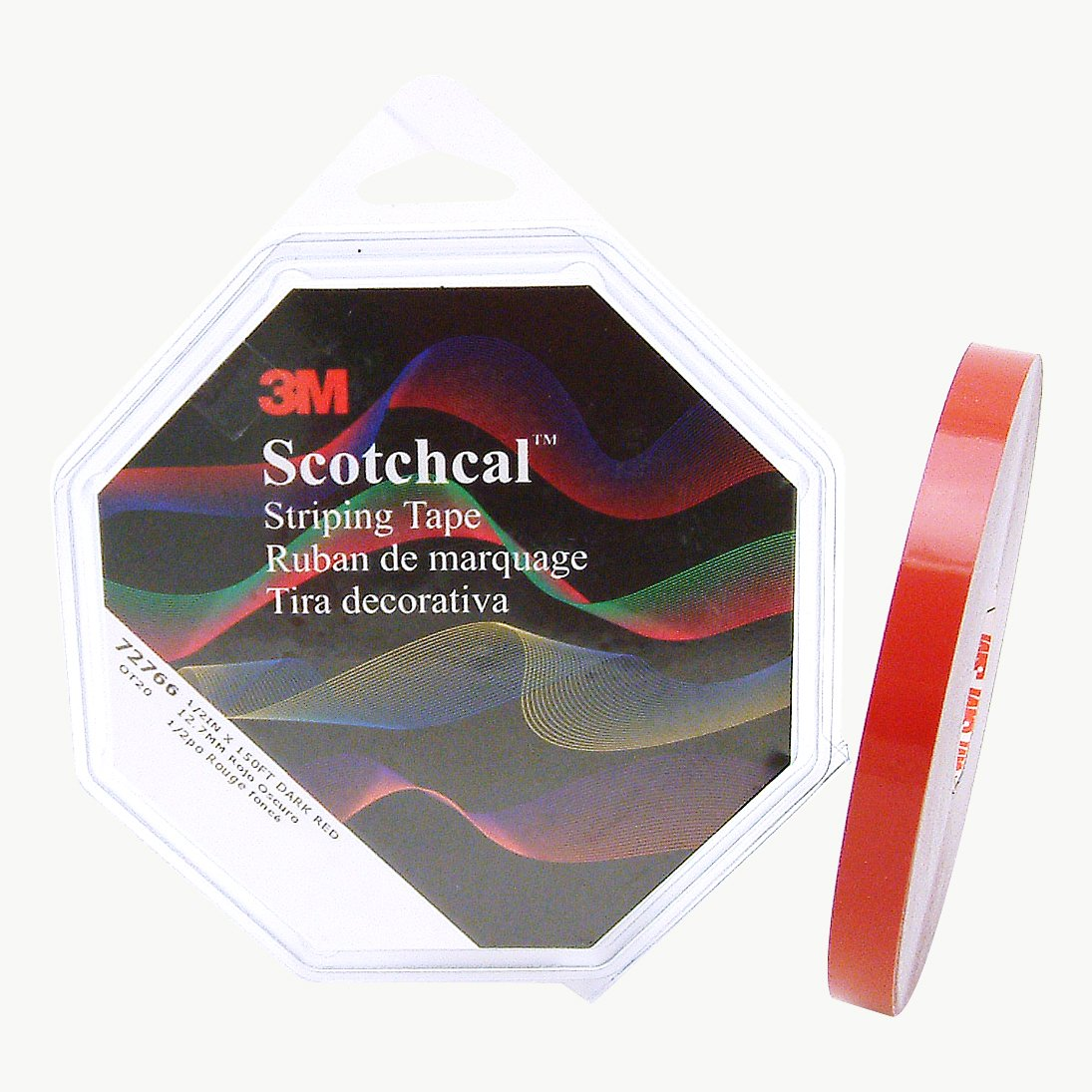 1//2 in Dark Red x 50 yds. 3M Scotch Scotchcal Striping Tape