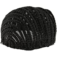 Flameer Black Adjustable Cornrow Wig Cap For Making Braids With Elastic Band - S M L - Black, S
